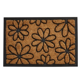 Daisy Rubber and Coir Doormat