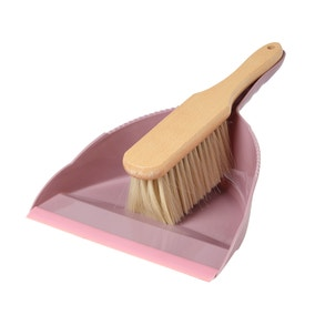 Dustpan and Wooden Brush