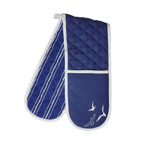 Yacht Club Embroidered Double Oven Glove