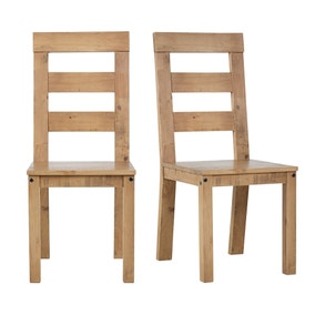 Fenton Pine Pair Of Dining Chairs. Loz_exclusive_to_dunelm