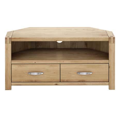 hastings solid oak corner tv stand