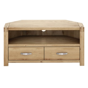 Hastings Solid Oak Corner TV Stand