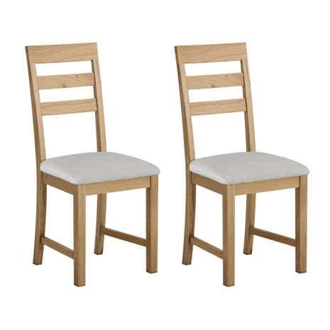 Hastings Solid Oak Pair of Dining Chairs