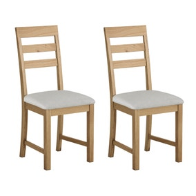 Hastings Oak Pair of Dining Chairs