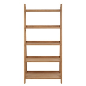 Jasper Oak Freestanding Ladder Bookcase