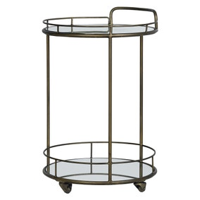 Pimlico Antique Brass Drinks Trolley