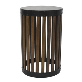 Farringdon Acacia Drum Side Table