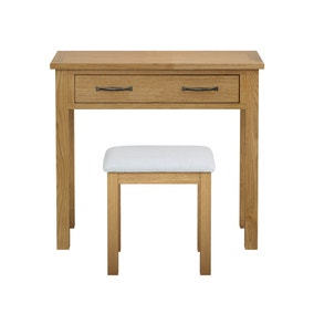 Sidmouth Oak Dressing Table and Stool