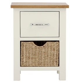 Sidmouth Cream 2 Drawer Bedside Table