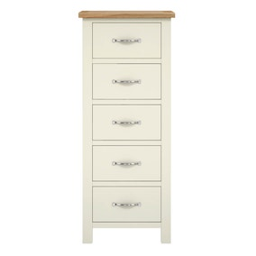Sidmouth Cream 5 Drawer Tallboy