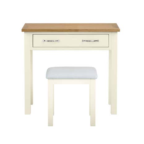 Sidmouth Cream Dressing Table and Stool