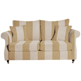 Wickham Woburn Stripe Natural 3 Seater Sofa