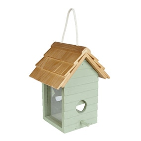 Sage Beach Hut Bird Feeder