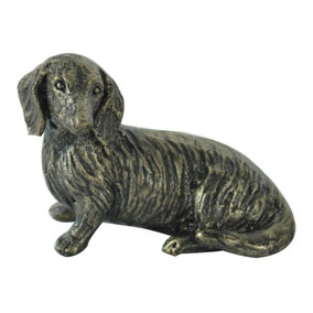 Bronze Sausage Dog Ornament