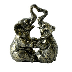 Bronze Kissing Elephants Ornament