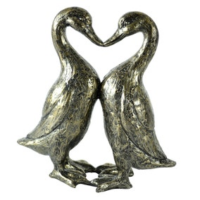 Bronze Kissing Ducks Ornament
