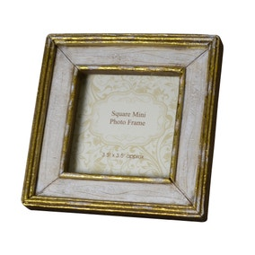 cream square mini photo frame