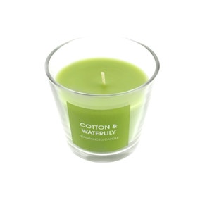 Cotton and Waterlily Wax Fill Candle