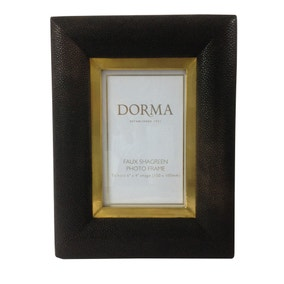 dorma faux shagreen photo frame