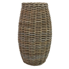 Dorma Grey Kobo Wicker Vase