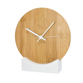 Elements Bamboo Mantle Clock