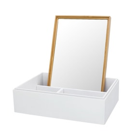Elements Bamboo Mirror Storage Box