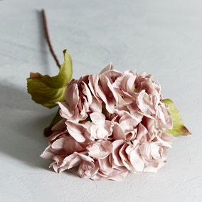 Artificial Dusky Pink Dried Hydrangea