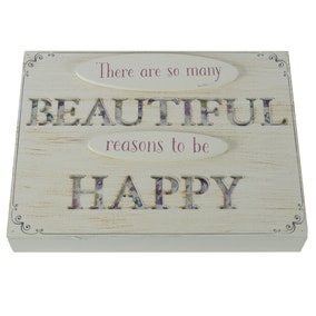 Reasons to be Happy Standing Plaque