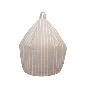 Hampton Stripe Natural Bean Bag