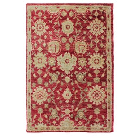 Dorma Red Hand Knotted Jute Rug