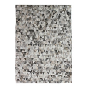 Patchwork Diamonds Cowhide Rug