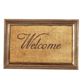 Copper Welcome Coir Doormat