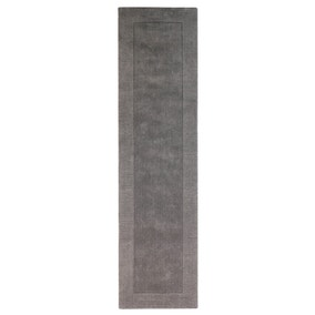 Grey Boston Wool Border Runner