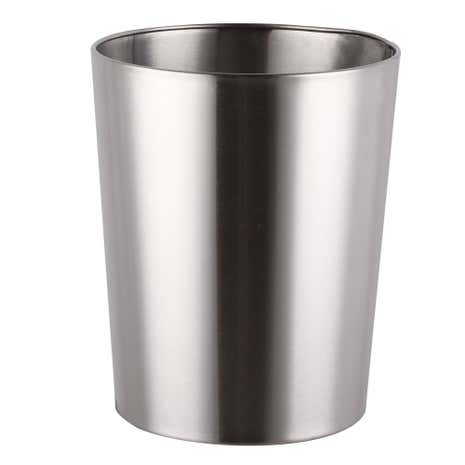 Brushed Silver Metal Bin