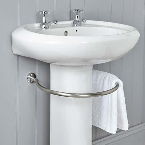Silverdale Victorian Basin And Classic Heated Towel Rail