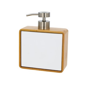 Elements Bamboo White Lotion Dispenser