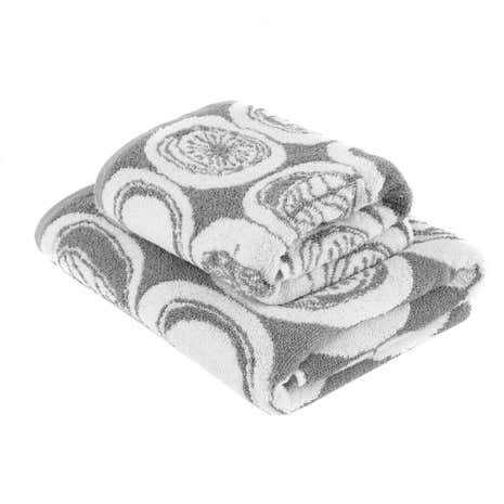 Elements Grey Jacquard Towel