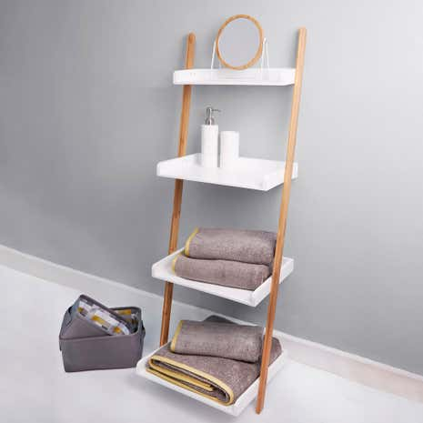 Elements White Ladder Shelves Unit