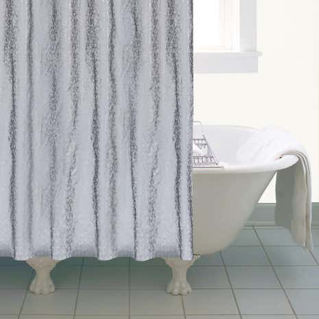 Grey Bubbles PEVA Shower Curtain
