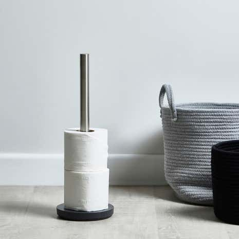 Grey Resin Toilet Roll Holder