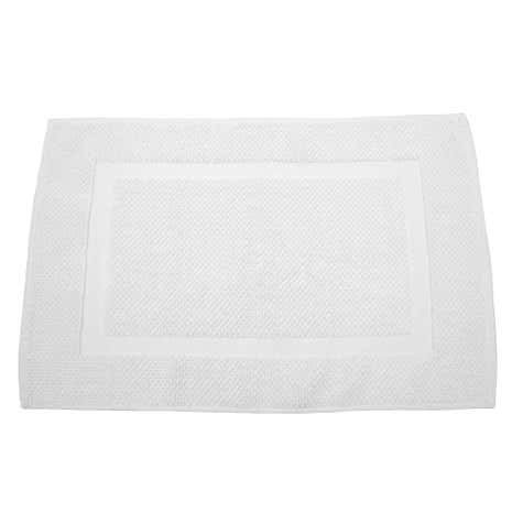 Hotel White Cotton Bath Mat