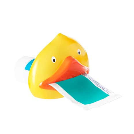 Kids Yellow Duck Toothpaste Squeezer