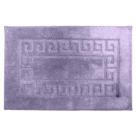 Luxury Lavender Cotton Non-Slip Bath Mat