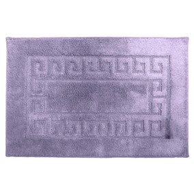 Luxury Lavendar Cotton Non-Slip Bath Mat