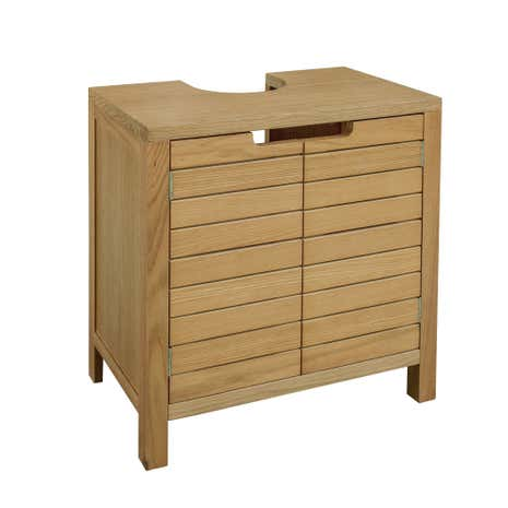 Milan Oak Slatted Under Sink Unit