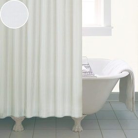 Natural Skinny Stripe Shower Curtain