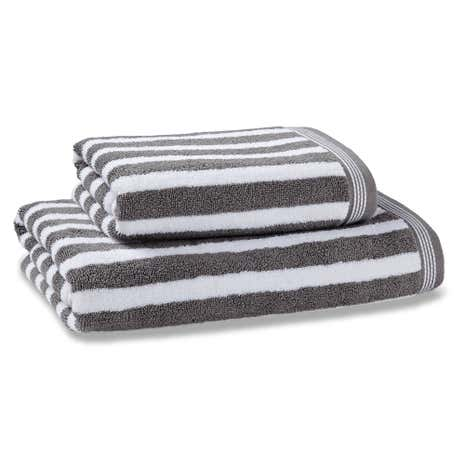 Nautical Stripe Grey Towel