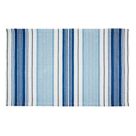 Nautical Stripe Flatweave Bath Mat