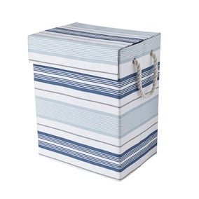 Nautical Stripe Laundry Hamper