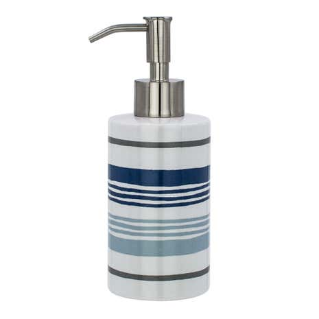 Nautical Striped Lotion Dispenser